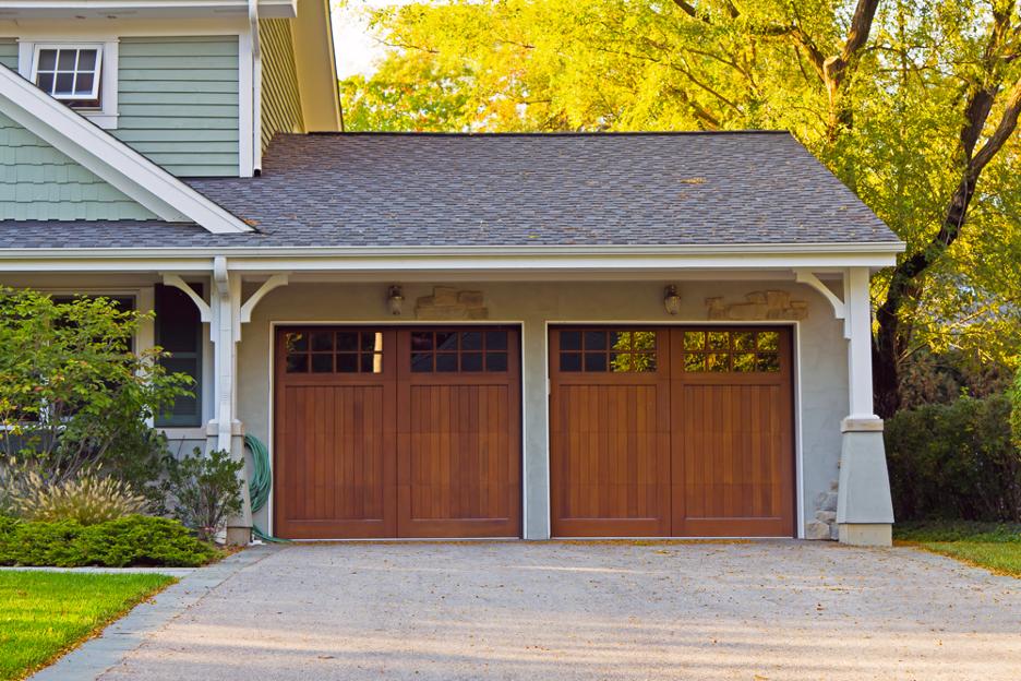 Wood exterior siding on a house in Buffalo Grove, Illinois